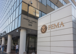 FEMA logo on wall